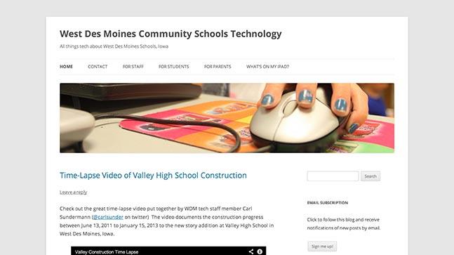 "<a href=""http://wdmtech.wordpress.com/"">West Des Moines Community Schools Technology</a>"